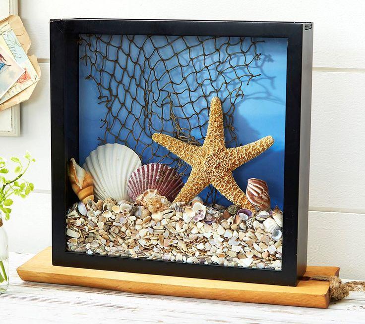 Shadowbox using seashells I've found
