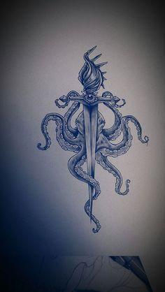 Octopus Anchor Tattoos on Pinterest | Anchor Tattoos Octopus Tattoos ...