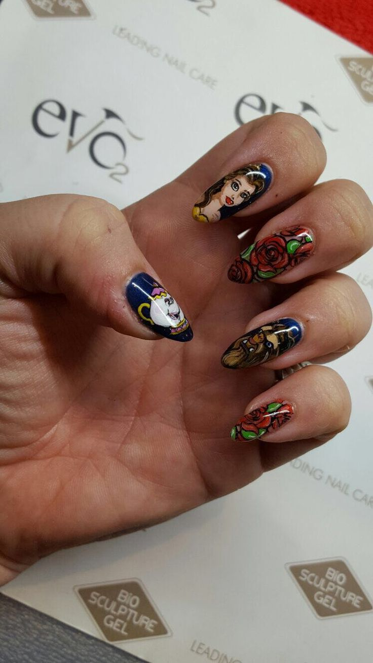 23 best bio sculpture nail art images on pinterest nail art beauty and the beast nails prinsesfo Gallery