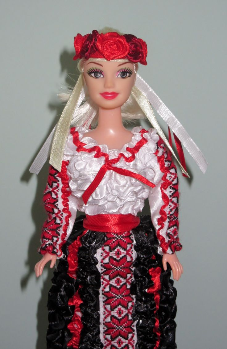 Here are 29.5 cm (11.5 inches) dolls with handmade clothes. Dresses and bonnets are made of satin ribbon with added lace decor and accessories. These dolls are the best gift for your little princesses on every holiday in any season.
