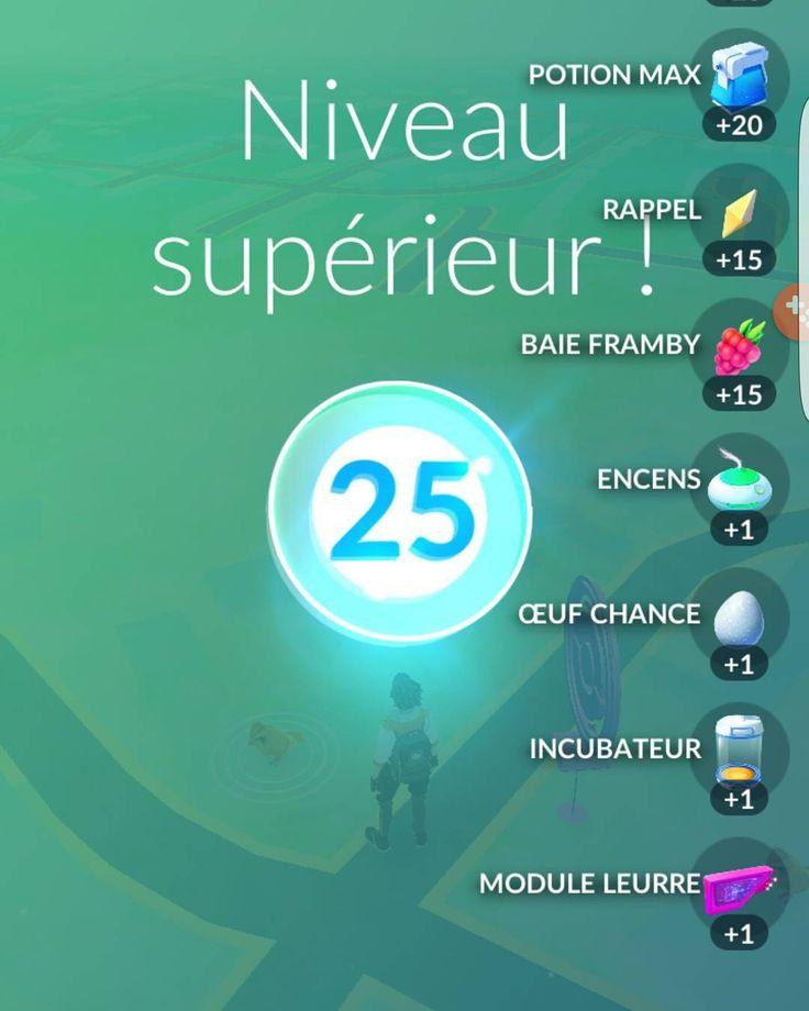 Trois mois jours pour jours pour atteindre le niveau 25 #PokemonGO  #gaming #kiff #jeuvideo #Belgique #Pokemon #pokemonaddict