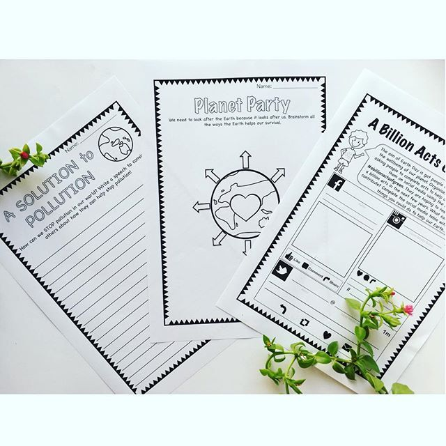 Earth Day Packs for Year 1 -2 and Years 3 -6. Includes 15 learning activities in each. Resource can be used all year round. So important for our kids to learn about how to look after our planet. These are from our primary earth day pack... Check it out on #tpt or #dbt 🌎 #earthday2016activities #earthday2016 #learninga