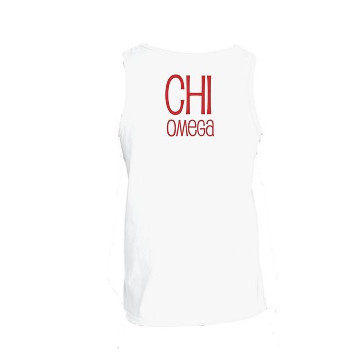 Chi Omega Tank Top . Stacked + Greek Letters . Customize