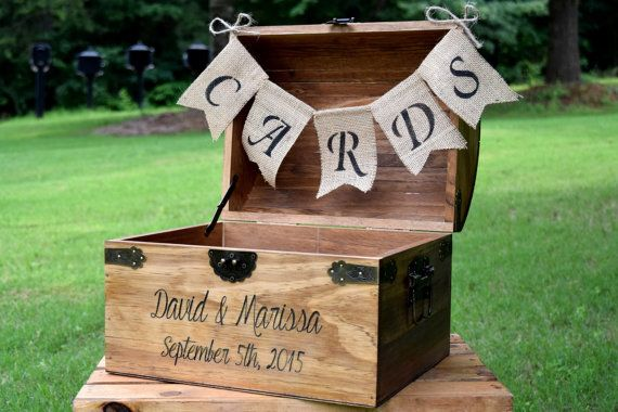 Wedding Card Box Rustic Wooden Card Box by CountryBarnBabe