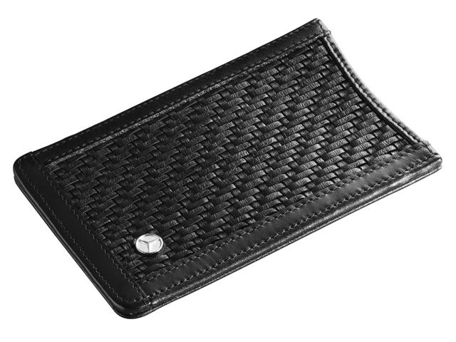 Pouch for iPhone, Unisex B66955150  Pouch for iPhone®. Black lambskin. Star logo stud. Handmade in Germany. Suitable for iPhone® 4.