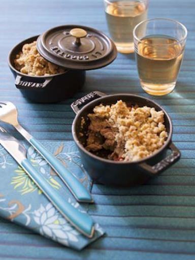 poivre, courgette, tomate, farine, oignon, huile d'olive, huile d'olive, beurre, aubergine, sel, herbes de provence, thon, poudre de noisette