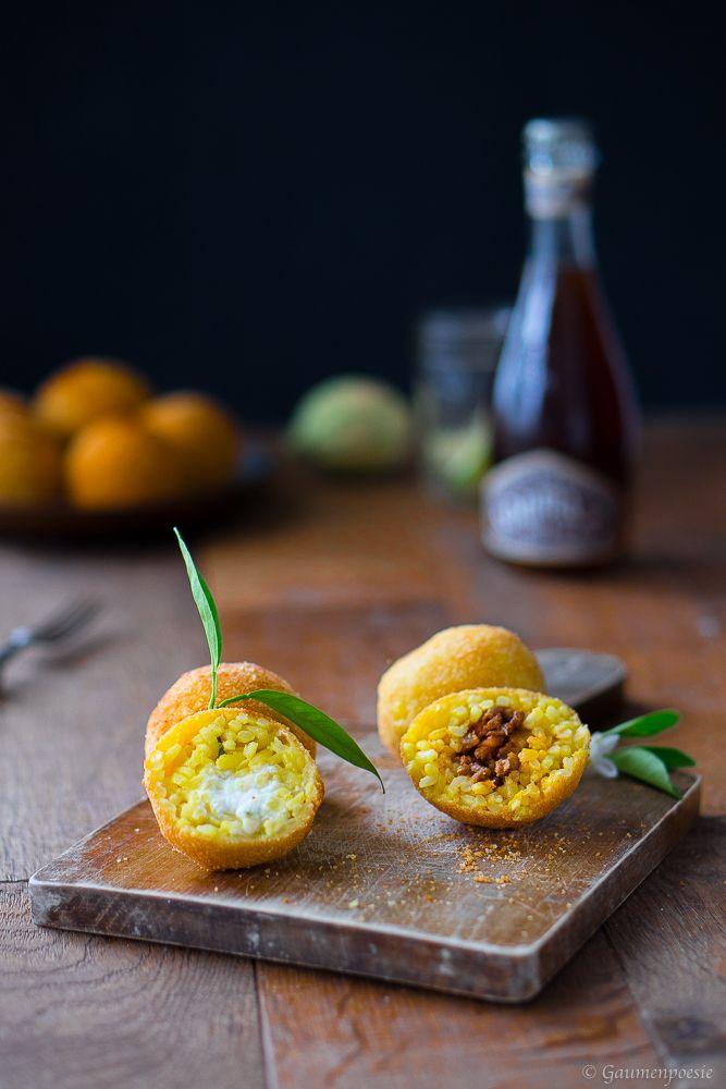 Arancini di Riso – Sizilianische Reisbällchen mit zwei verschiedenen Füllungen