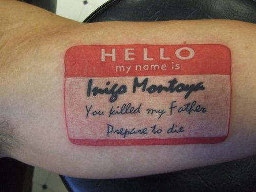 Princess Bride Tattoo