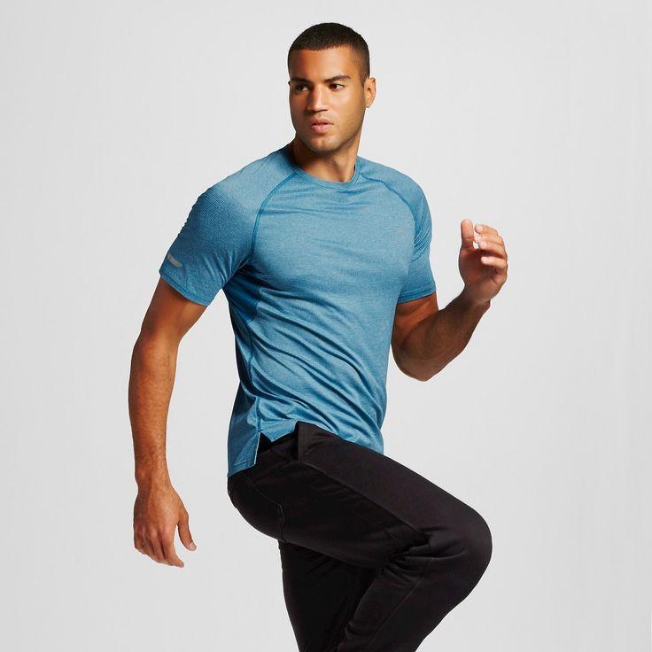 Men's Premium Running T-Shirt Blue Oasis Heather 2XL - C9 Champion, Size: Xxl