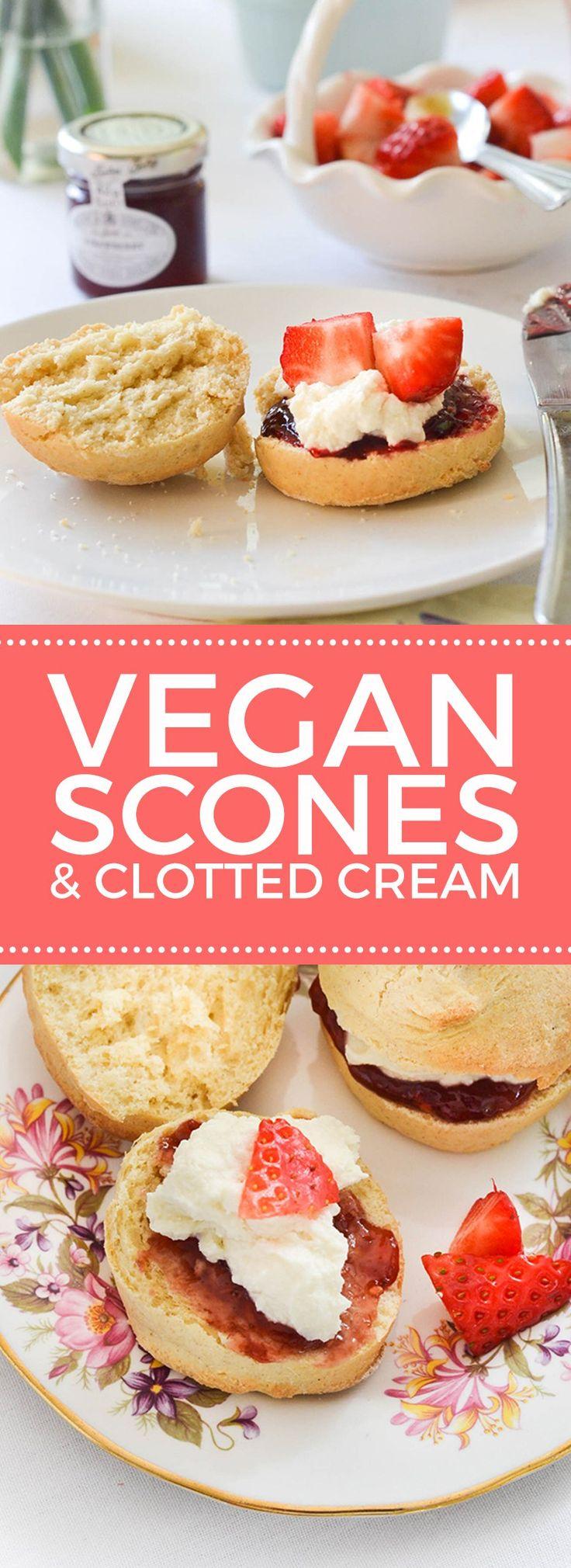 Vegan Scones with Clotted Cream #vegan