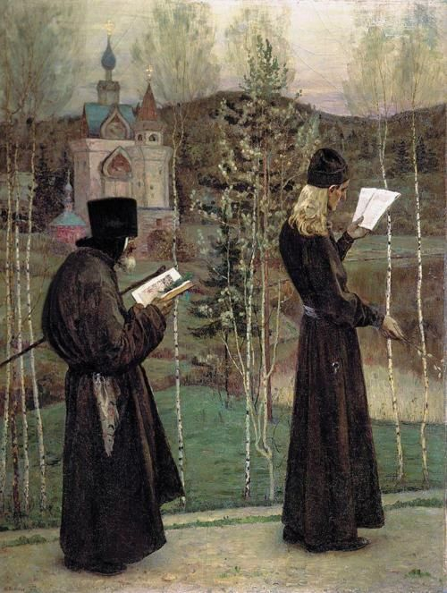 zolotoivek:  Mikhail Nesterov - Under the bells, 1897