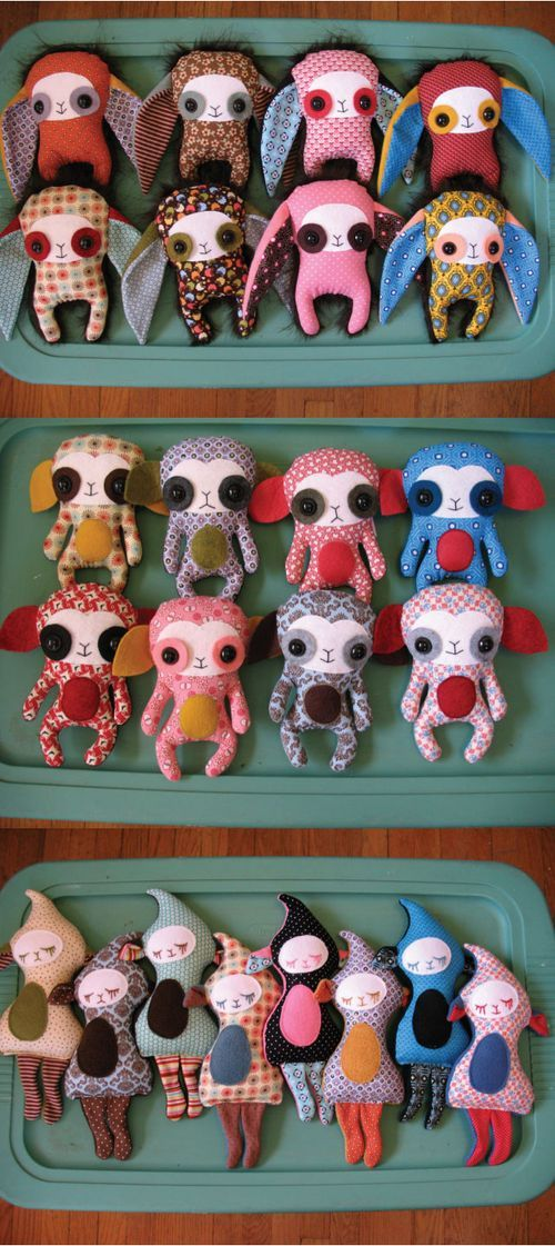 Perfect little creatures to add to the wee one's collection of handmade dolls