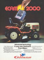 Gilson ECAM 2000 Yard Tractor 1985 Ad Picture