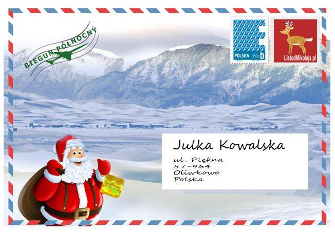 List od Mikołaja #letter from santa #list od mikolaja #koperta