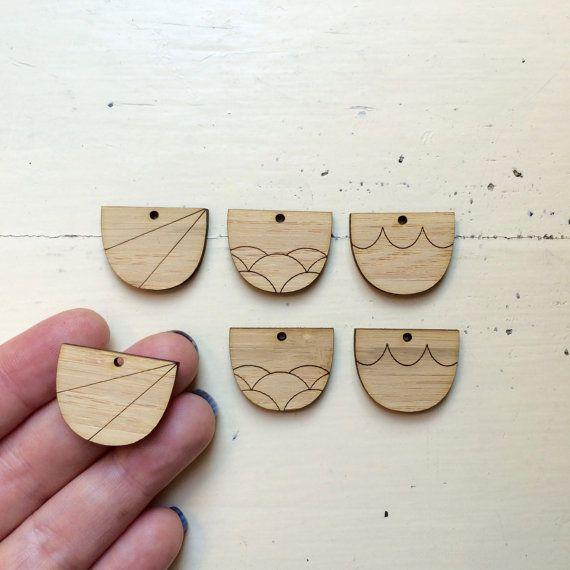 Scoops Laser Cut Earrings Supplies  Choose form by CraftyCutsLaser