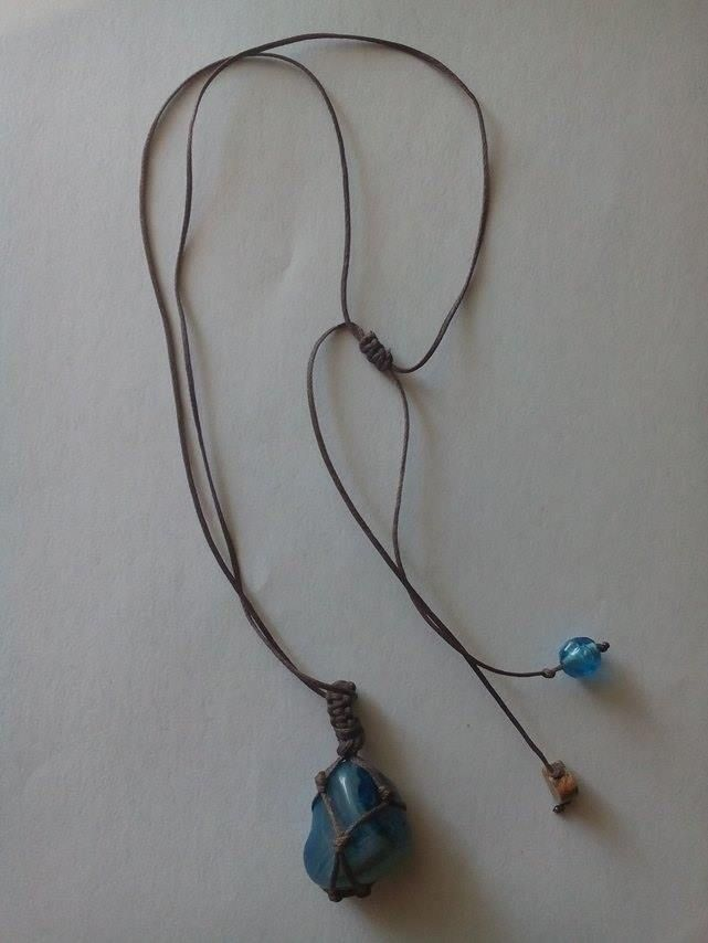 Blue Agate stone-sack