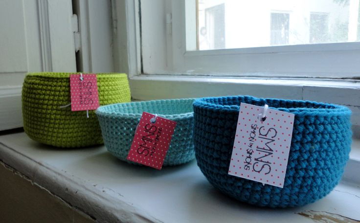 green and blue baskets