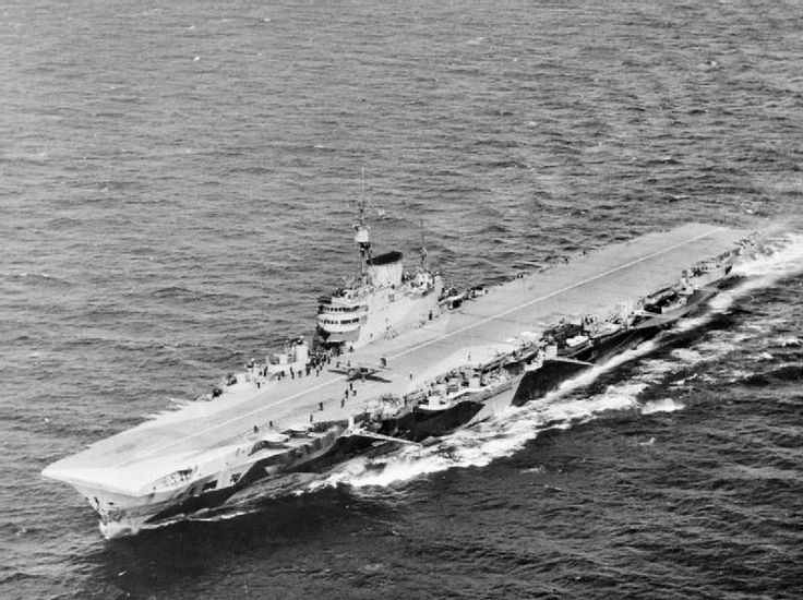HMS Indefatigable was an Implacable-class aircraft carrier built for the Royal Navy (RN) during World War II. She was completed in 1944, and her aircraft made several attacks that year against the German battleship Tirpitz. She was recommissioned in 1950 as a training ship for service with the Home Fleet Training Squadron. The Board of Admiralty decided that she was redundant in early 1954 and decommissioned her later that year. Indefatigable was sold for scrap the following year.
