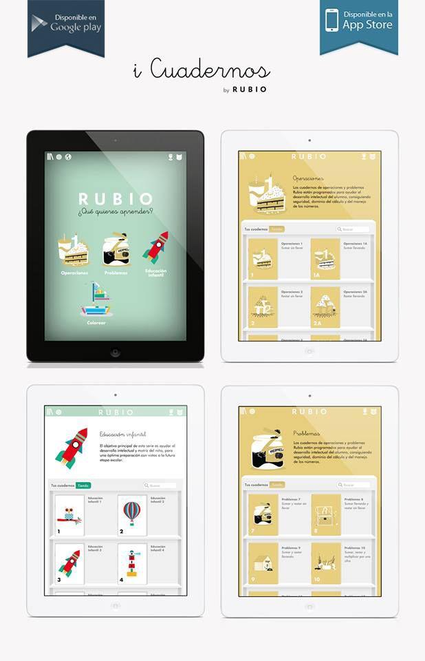 Jugar y aprender es posible con nuestra aplicación iCuadernos disponible en iOs (iPad), Android (Google Play) y Windows.  iOs (iPad) | http://bit.ly/icuadernos Google Play (Android) | http://bit.ly/icuadernos-android