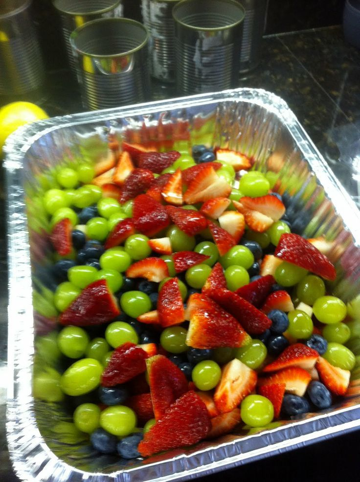 Fruit Salad with Honey-Lime Dressing    (easy). Would be good for a Potluck. Another Pinner says it's the best fruit   salad they have ever had.