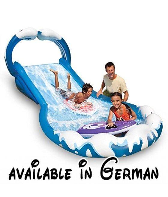 Intex Wasserrutsche Wasserrutschbahn Wasserbahn ausblasbar 406 x 168 x 163 cm mit 2 Wellenreitern.  #Toy #TOYS_AND_GAMES