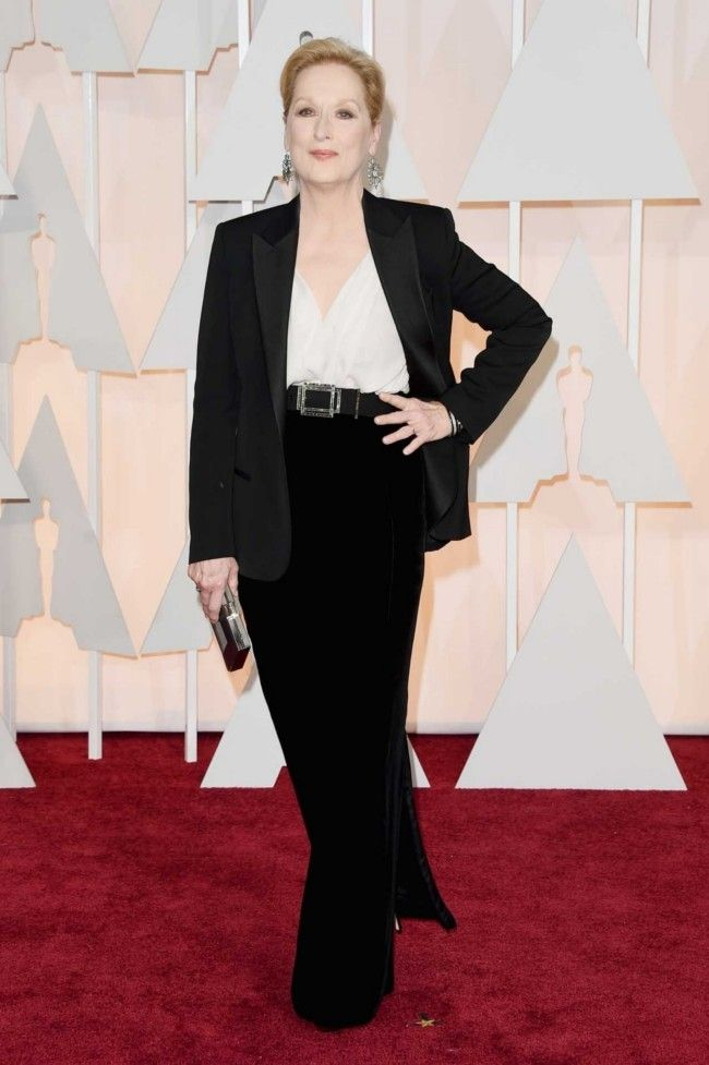 87th Academy Awards: Oscars 2015 red carpet : Meryl Streep in custom Lanvin