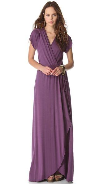 goddess dress in grape