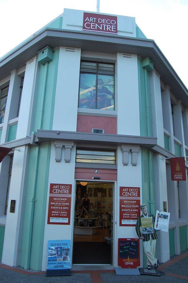 Art deco buildings on Tennyson Street in Napier
