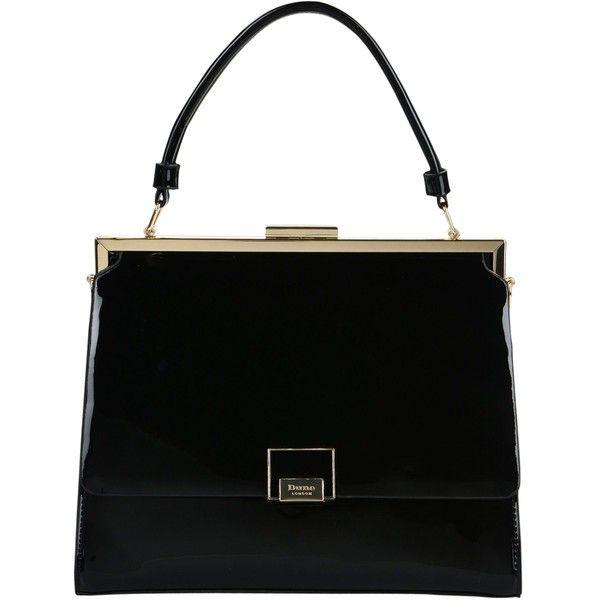 Dune London Handbag (410 PEN) ❤ liked on Polyvore featuring bags, handbags, shoulder bags, black, dune handbags, gladstone bags, studded handbags, studded purse and dune purse