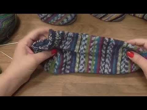 Kurz pletení ponožek na jedné kruhové jehlici od špičky (1. díl) Knitting socks - YouTube