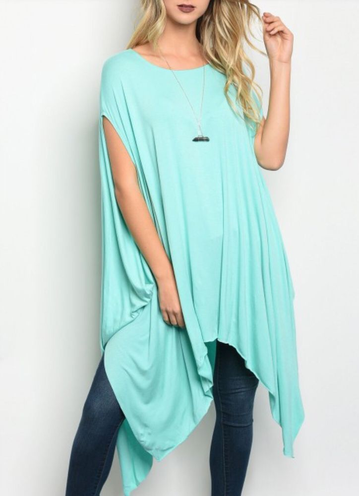 24533f0bd8a New Chic Mint Jersey Tunic Size M | SPLabel Co. Clothing | Pinterest