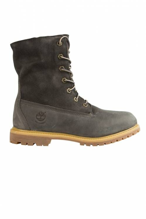 CHAUSSURES FEMME AUTHENTICS TEDDY FLEECE WP TIMBERLAND GRIS FONCE} www.unclejeans.com #unclejeans