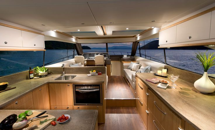 Riviera 515 SUV - Galley and Saloon