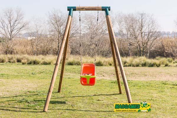 Las 25 mejores ideas sobre columpios para beb s en - Columpio madera jardin ...