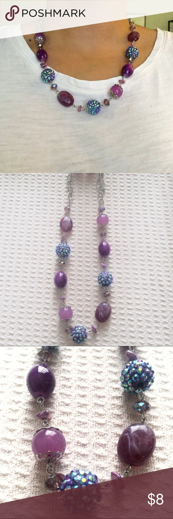 Charming Charlie Necklace Set Avail Lilac + Aqua Short Charming Charlie Necklace set with earrings. Dresses up any outfit. Available in lilac-silver and aqua-silver. New, never worn. Happy to provide additional info/pics. Offers welcome 💜💙 Charming Charlie Jewelry Necklaces