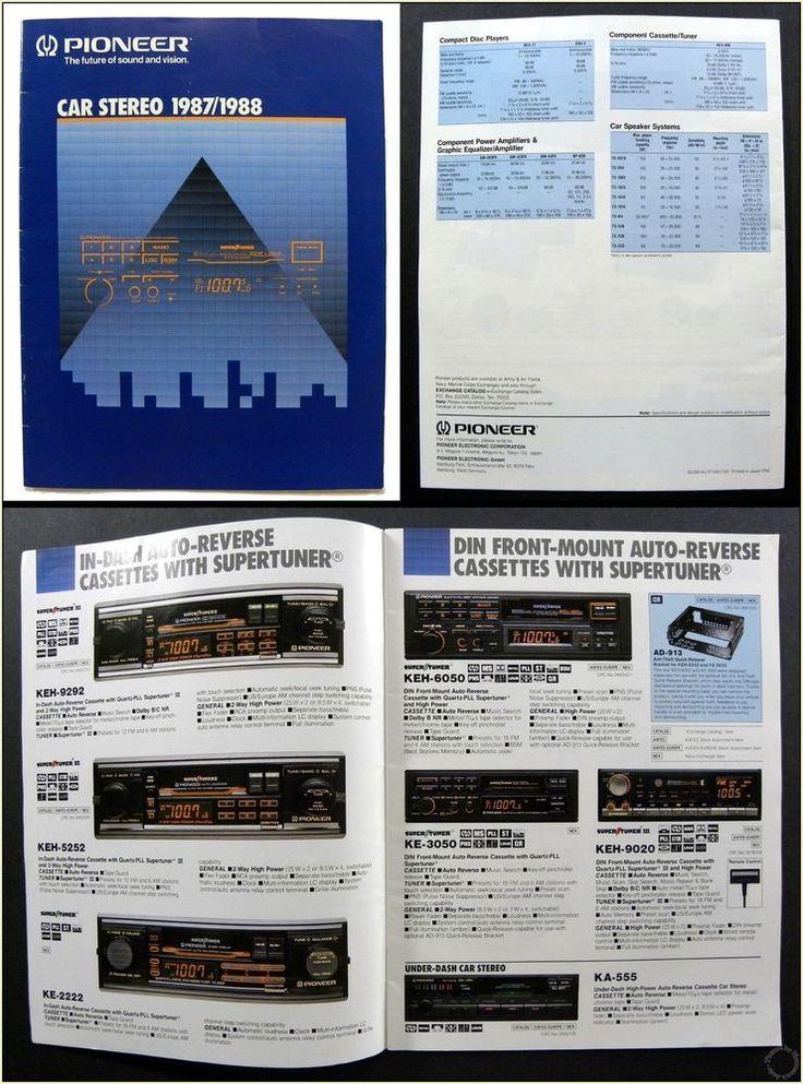 1980's Vintage Pioneer Car Stereo Equipment Catalog & Install Guide 1987 / 1988 #Pioneer