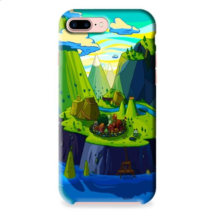 Cartoon Mountains Rivers iPhone 7 Plus 3D Case Dewantary