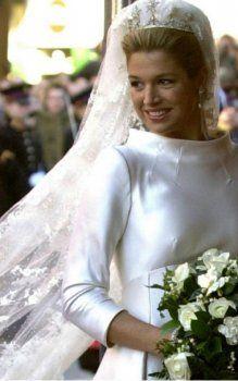robes de mariage aux Pays-Bas princesse Maxima