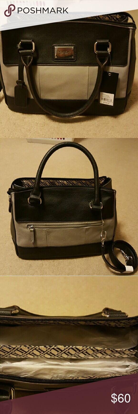 Tignanello Handbag NWT Brand new Tignanello handbag, two toned black and gray. Tignanello Bags Satchels