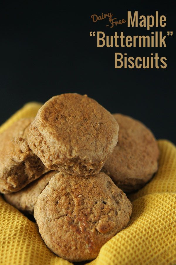 """These Maple """"Buttermilk"""" Biscuits are soft and flaky, with a hint of maple flavour- the perfect dairy-free alternative to buttermilk breakfast biscuits."""