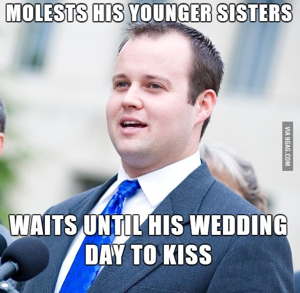 Hypocrite Scumbag Josh Duggar, promotes Christian Values, Morality and uses the Bible to be against Gay Marriage - molested he's own Sisters