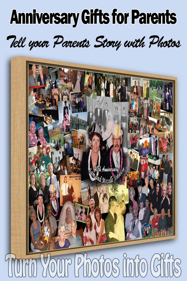 Personalised Parents 20th Anniversary Ideas Anniversary Photo Gift Personalized Photo Gifts Birthday Gifts For Sister