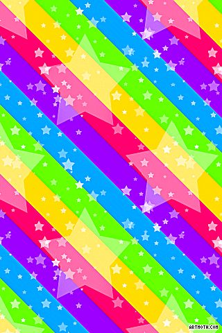 Rainbow hearts and stars stars on rainbow stripes iphone wallpaper paper crafting for Rainbow color stripe watch