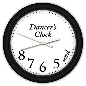 Dancer's Time Clock Ballet Dance Studio Girls Bedroom Small Wall Clock | eBay