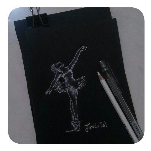 #ballerina #draw #onblackpaper #inspired #unprofesional
