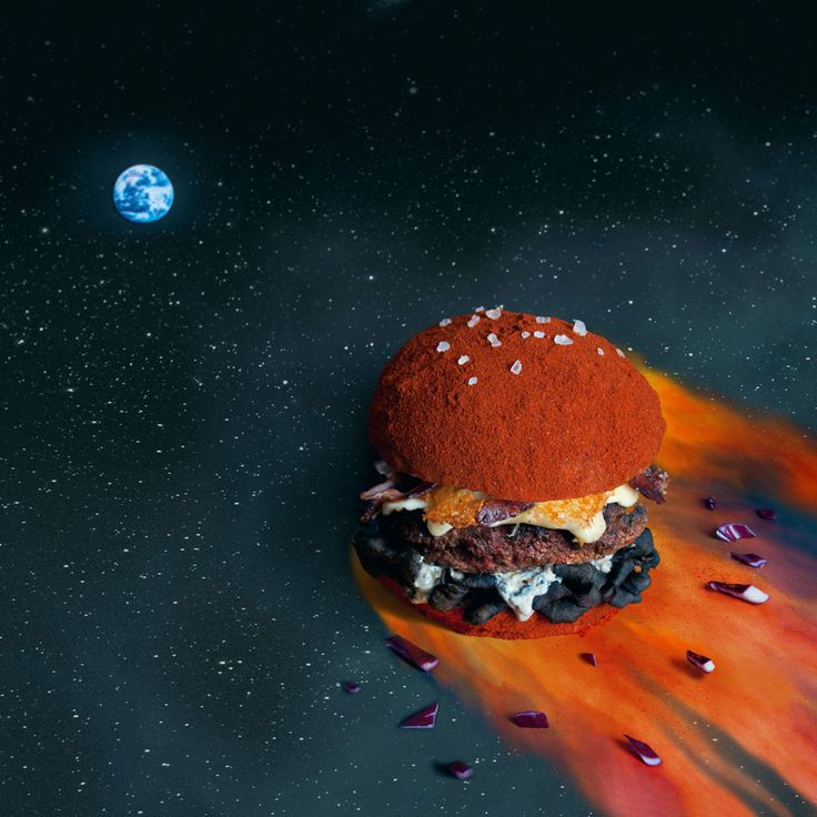 The Apocalypse Burger.    Two graphic designers from France, Quentin and Thomas, started this random project one afternoon, after they decided to photograph one of their meals and put it online. http://fatandfuriousburger.com/