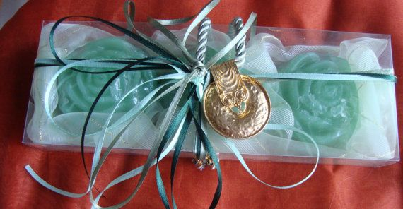 Study in Olive Green  Elegant Gift Set for by JoannasScentedSoaps