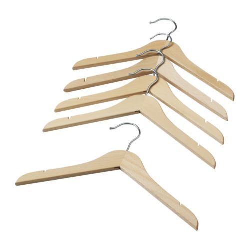 IKEA - HÄNGA, Children's coat-hanger,  , , Made of solid wood, which is a hardwearing and warm natural material.