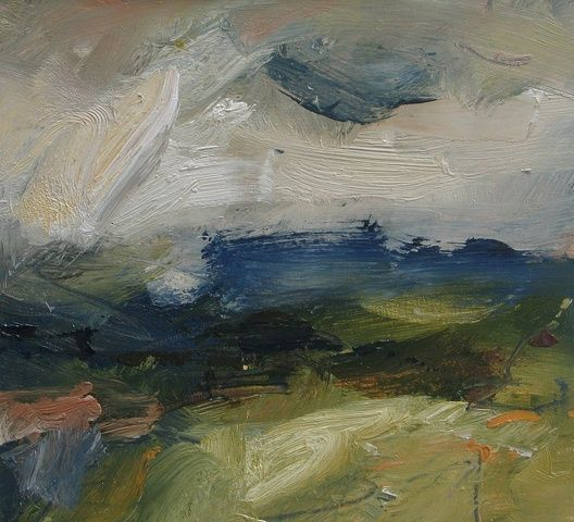 Louise Balaam Blue and Green Downs, Hazy Afternoon