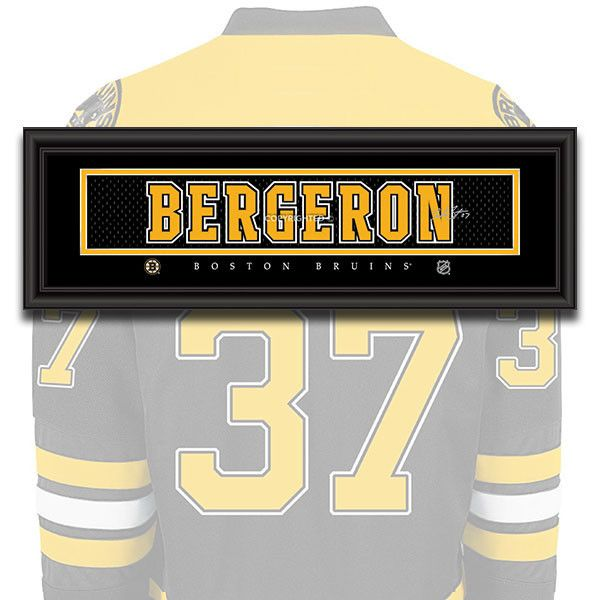 Boston Bruins - Patrice Bergeron - NHL Jersey Name Patch